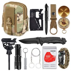 13-in-1 Emergency Survival Gear Kit