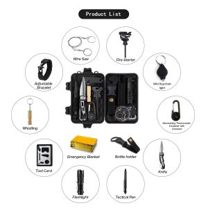 14-in-one Outdoor Survival Tool Kits
