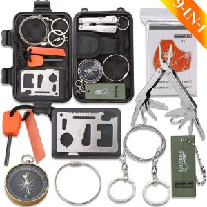 9-in-one Outdoor Survival Kit