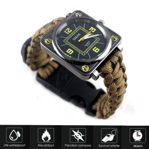 Flashlight Wrist Watch with Compass