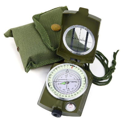 2 pieces military lensatic sighting compass